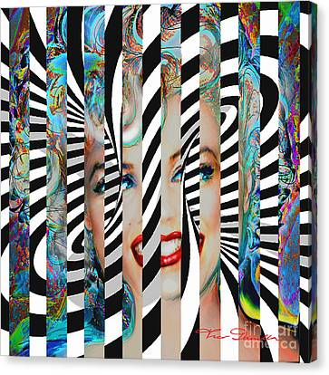 Mmother Of Pearl Sis 3 Canvas Print by Theo Danella