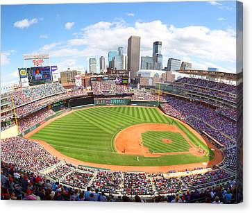 Mn Twins Target Field Canvas Print by Michael Klement