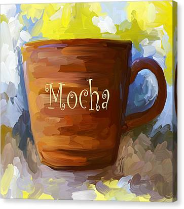 Mocha Coffee Cup Canvas Print by Jai Johnson