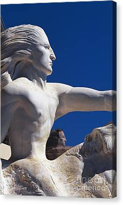 Model For Crazy Horse Monument Canvas Print by David R. Frazier