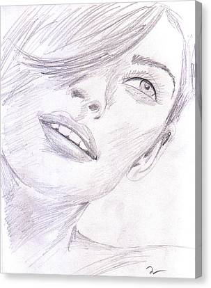 Model Canvas Print by M Valeriano