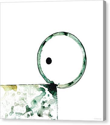 Modern Art - Balancing Act 2 - Sharon Cummings Canvas Print by Sharon Cummings