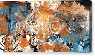 Modern-art Beyond Control II Canvas Print by Melanie Viola