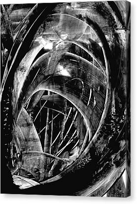 Modern Art - Black Embers 1 - Sharon Cummings Canvas Print by Sharon Cummings