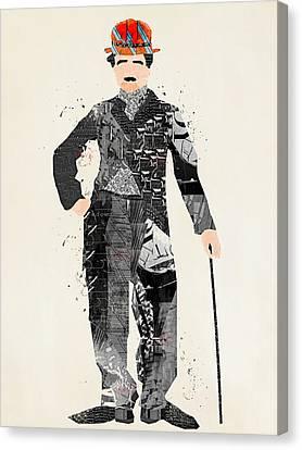 Modern Chaplin Canvas Print by Bri B
