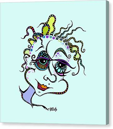 Modern Day Medusa Canvas Print by Tanielle Childers