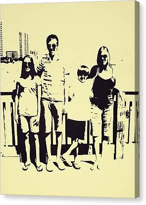Modern Day Single Mom Family Vacation  Canvas Print by Sheri Buchheit