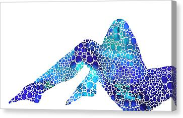 Modern Nude - Legs - Sharon Cummings Canvas Print by Sharon Cummings