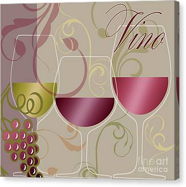 Modern Wine I Canvas Print by Mindy Sommers