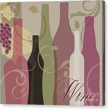 Modern Wine IIi Canvas Print by Mindy Sommers