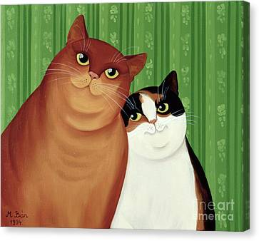 Moggies Canvas Print by Magdolna Ban