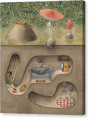 Mole Canvas Print by Kestutis Kasparavicius