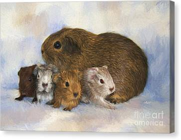 Mommy With Children Canvas Print by Jutta Maria Pusl