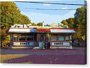 Mom's Diner IIi Canvas Print by Rick Black