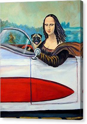 Mona Likes To Cut Loose On Weekends Canvas Print by Lyn Cook