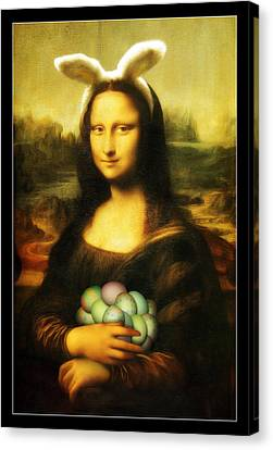 Mona Lisa Easter Bunny Canvas Print by Gravityx9  Designs