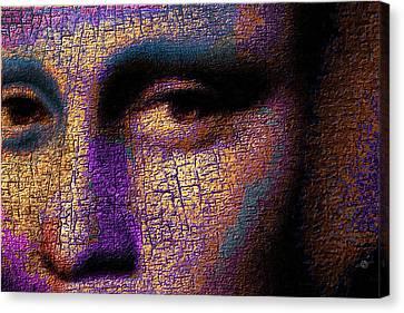 Mona Lisa Eyes 1 Canvas Print by Tony Rubino