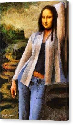 Mona Lisa Sophisticated Canvas Print by Leonardo Digenio