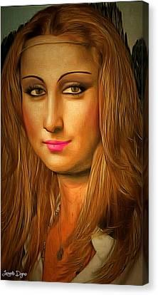 Mona Lisa Teen - Da Canvas Print by Leonardo Digenio