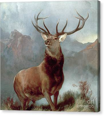 Monarch Of The Glen Canvas Print by Sir Edwin Landseer