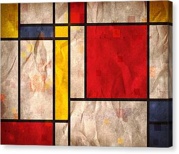 Mondrian Inspired Canvas Print by Michael Tompsett