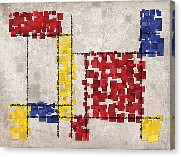 Mondrian Inspired Squares Canvas Print by Michael Tompsett