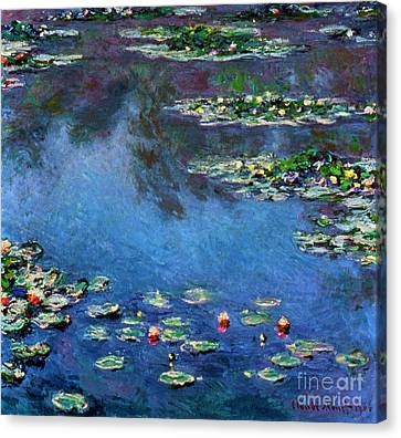 Monet: Waterlilies, 1906 Canvas Print by Granger