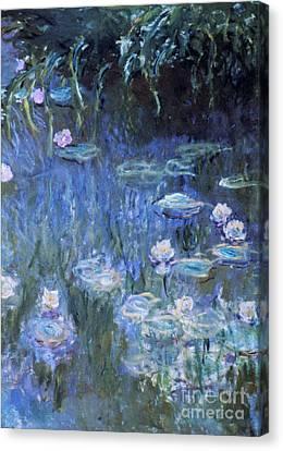 Monet: Waterlilies Canvas Print by Granger