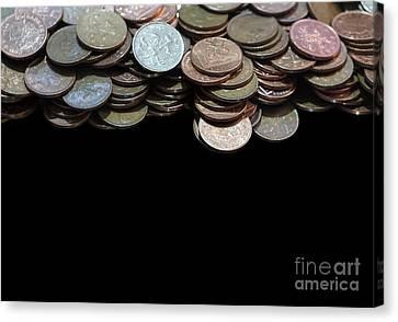 Money Games Canvas Print by Jasna Buncic