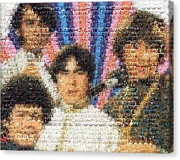 Monkees Mosaic Canvas Print by Paul Van Scott