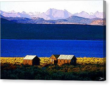 Mono Lake Cabins Canvas Print by David Lee Thompson