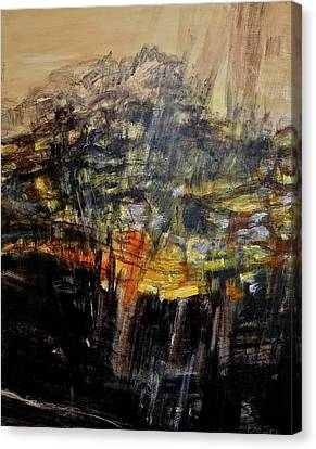 Monsoon Light Triptych - Right Panel Canvas Print by Bonnie See