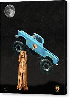 Monster Truck The Scream World Tour  Canvas Print by Eric Kempson