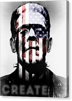 Monster Usa Canvas Print by Create Art