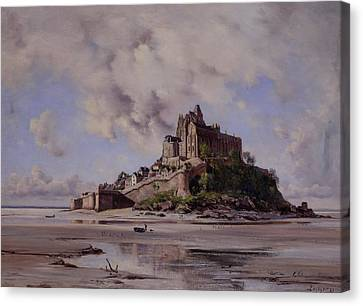 Mont Saint Michel Canvas Print by Emmanuel Lansyer