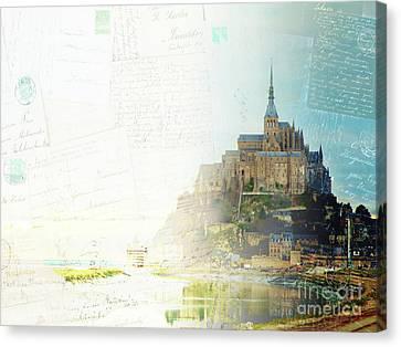 Mont St Michel Postcard Canvas Print by Anastasy Yarmolovich