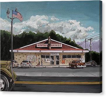 Montana Market Canvas Print by Steve Beaumont