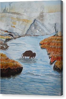 Montana Wildlife Canvas Print by Warren Thompson