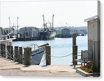 Montauk Harbor  Canvas Print by Christopher Kirby