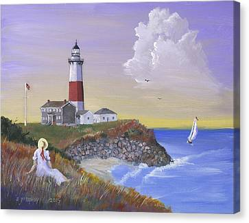Montauk Lighthouse Canvas Print by Jerry McElroy