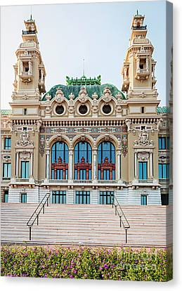 Monte Carlo Casino In Monaco Canvas Print by Elena Elisseeva