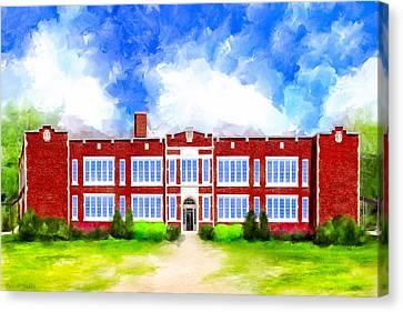 Montezuma School History Canvas Print by Mark Tisdale