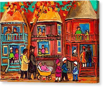 Montreal Early Autumn Canvas Print by Carole Spandau