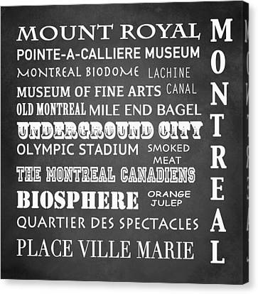 Montreal Famous Landmarks Canvas Print by Patricia Lintner