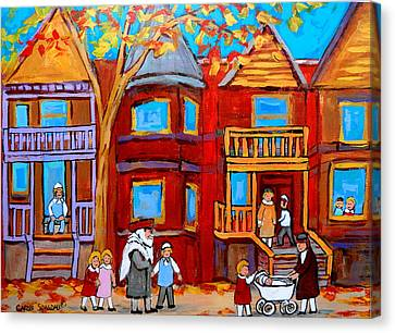 Montreal Memories Of Zaida And The Family Canvas Print by Carole Spandau