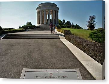 Canvas Print featuring the photograph Montsec American Monument by Travel Pics