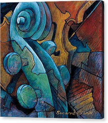 Moody Blues Canvas Print by Susanne Clark