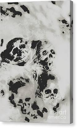 Moody Dramatic Cobwebby Skull Artwork Canvas Print by Jorgo Photography - Wall Art Gallery