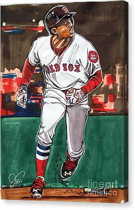 Mookie Betts Canvas Print by Dave Olsen