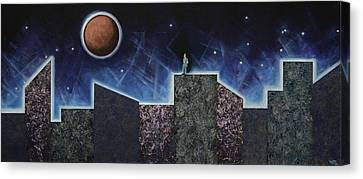 Moon Eclipse Canvas Print by Graciela Bello